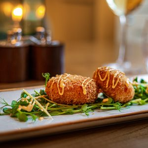 Fish Cakes at The Rutland Arms in bakewell